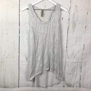 Free People Sparkly High Low Rumpled Tank Top